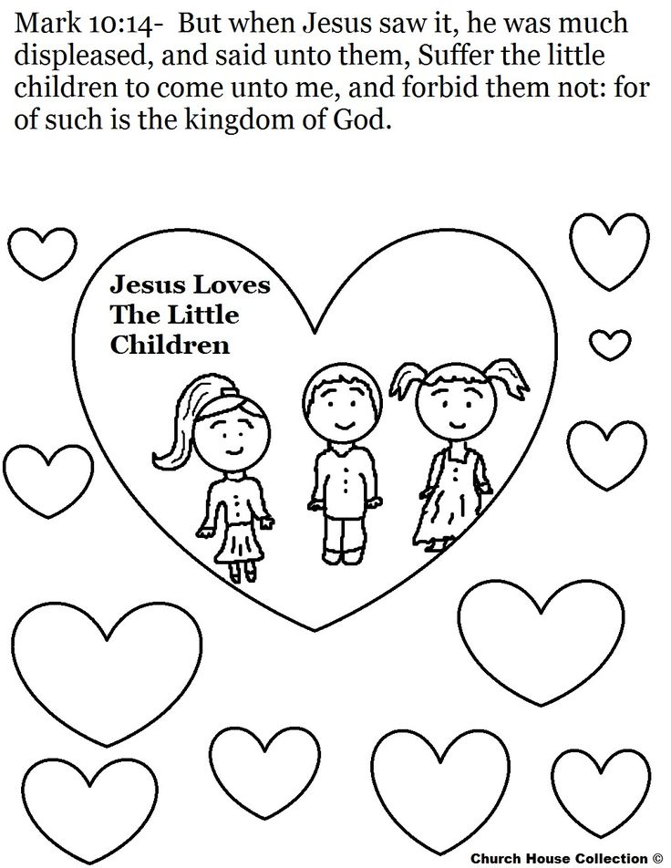 Jesus Loves The Little Children Coloring Page 1020x1320 Pixels