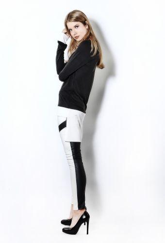 B&W Asymmetrical blouse - UTOPIA Collection F/W15-16 - Caroline de Souza