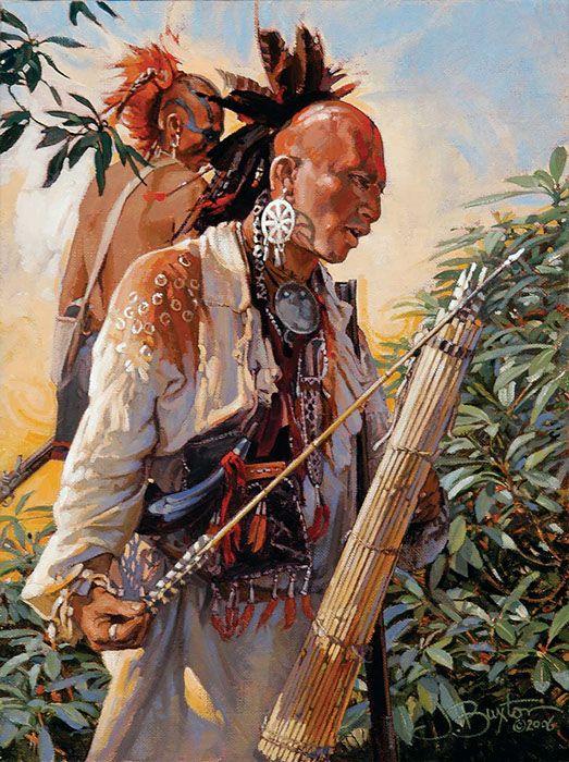 John Buxton painting  The arrows are Cherokee  kK