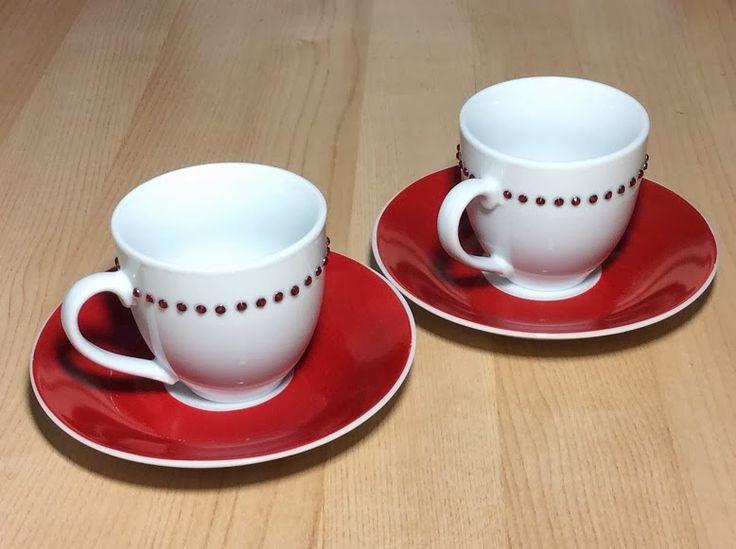 ispirazione eklektika: decorazioni con strass: tazzine da caffè