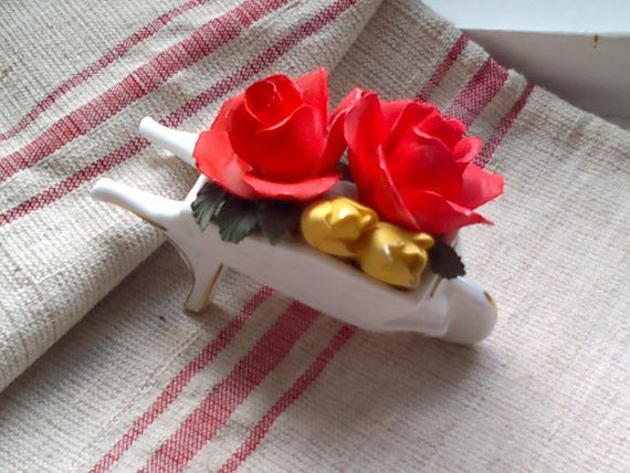 Shabby chic vintage porcelain roses in by 20thCenturyDream4You, $20.00