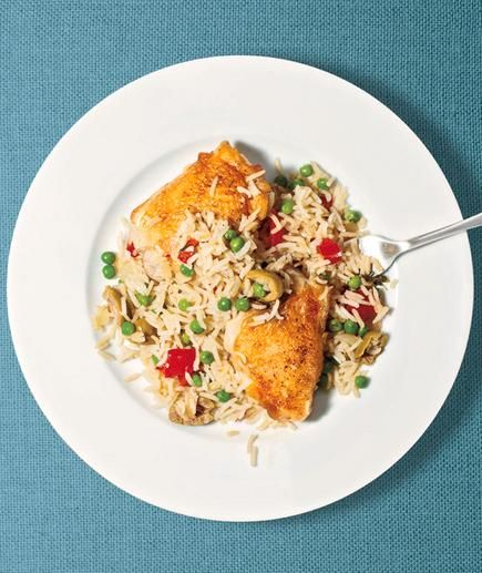 Chicken and Rice With Peas recipe