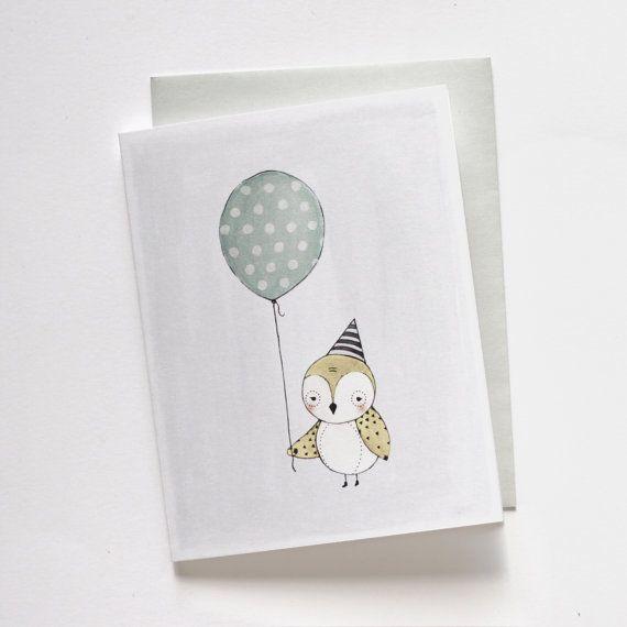 Little Bird Birthday Card 1pc