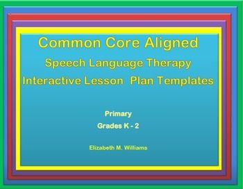 17 best images about lesson plans on pinterest for Speech pathology lesson plan template