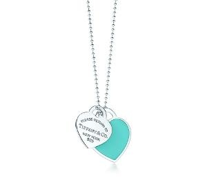 Tiffany & Co. | Item | Return to Tiffany\u00E2\u00A2 large double heart tag pendant in silver with enamel finish. | United States