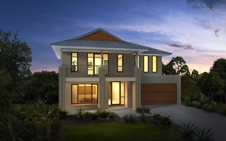 Metricon Home Designs: The Phoenix - Plantation Facade. Visit www.localbuilders.com.au/builders_nsw.htm to find your ideal home design in New South Wales