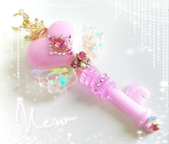 【moca*様専用】MagicalPrincess〜魔法の鍵*ふんわりピンク オーバル