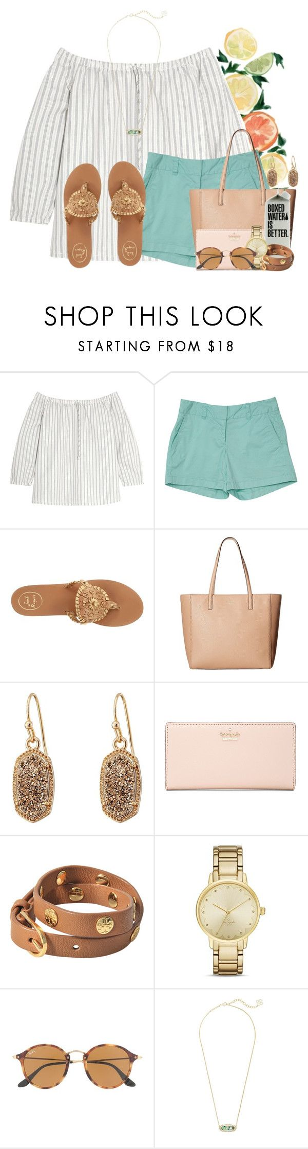"""Breakfast at Panera!!"" by flroasburn ❤ liked on Polyvore featuring Madewell, Jack Rogers, Kate Spade, Kendra Scott, Tory Burch and Ray-Ban"