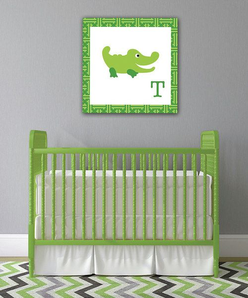 Take a look at the Alligator Initial Canvas on #zulily today!