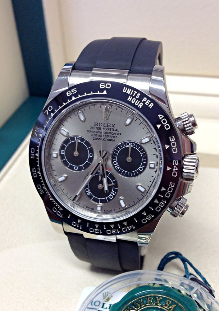 Details About Rolex Daytona 116519ln White Gold Oysterflex Box And