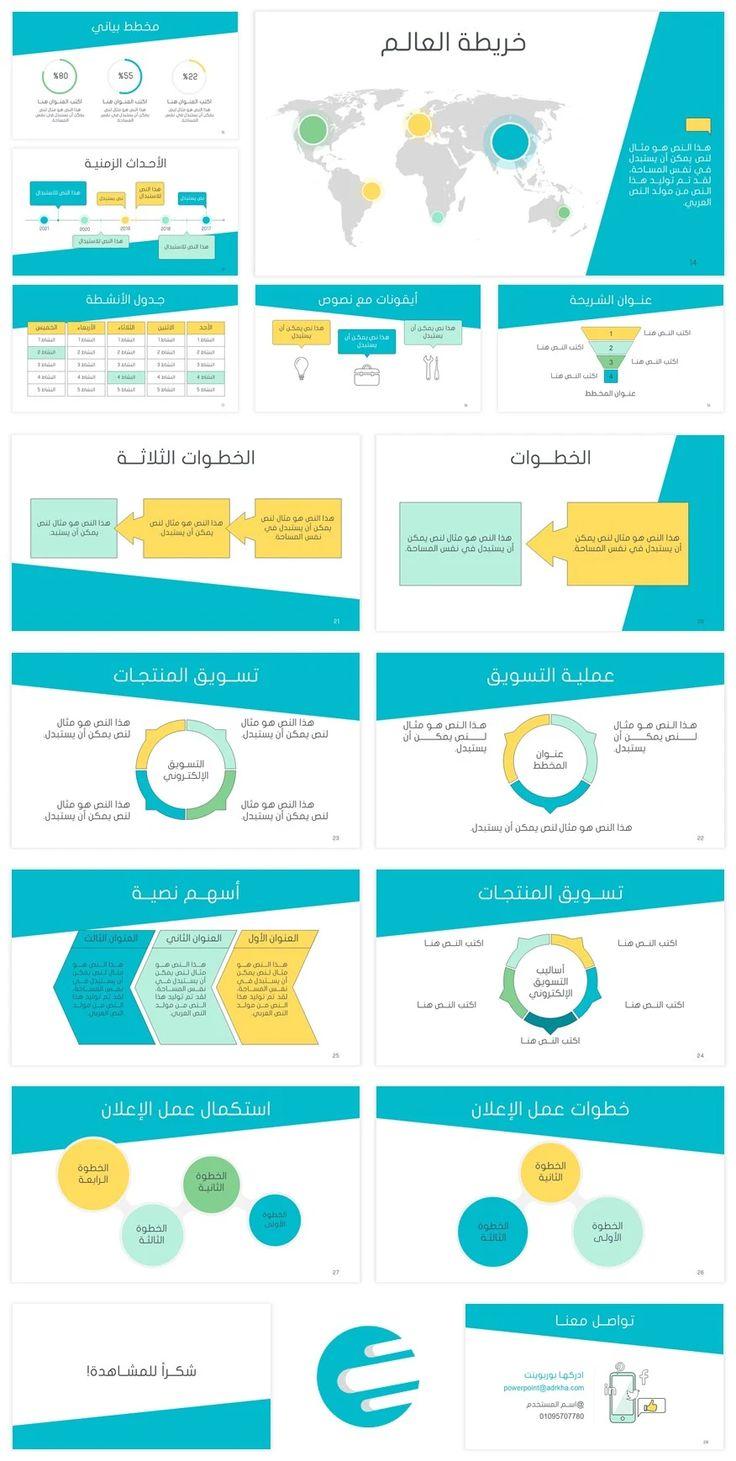 قالب بوربوينت عربي متحرك عن التسويق الإلكتروني ادركها بوربوينت Powerpoint Template Free Powerpoint Templates Powerpoint Design