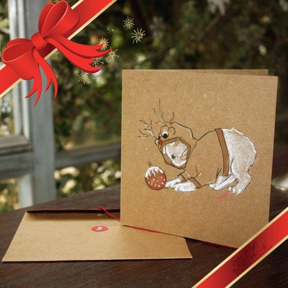 Princess Luna Cat Kraft Christmas Card by Enixy on Etsy