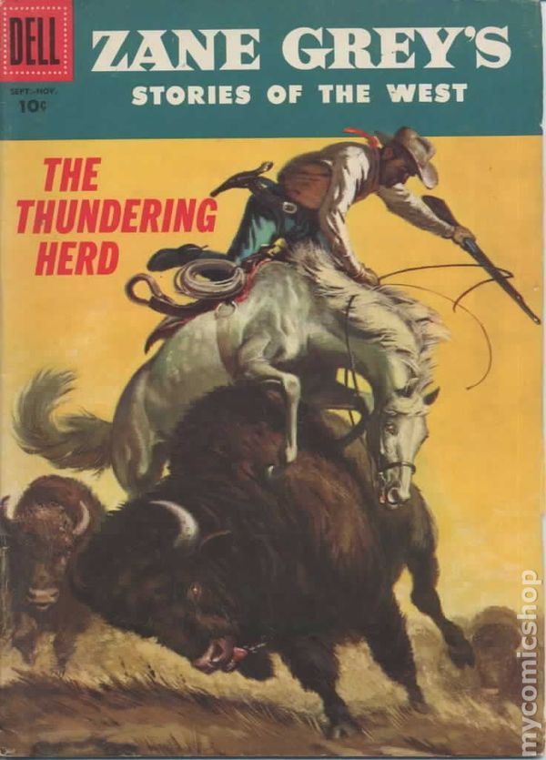 Zane Grey book covers | Zane Grey's Stories of the West (1955) comic books