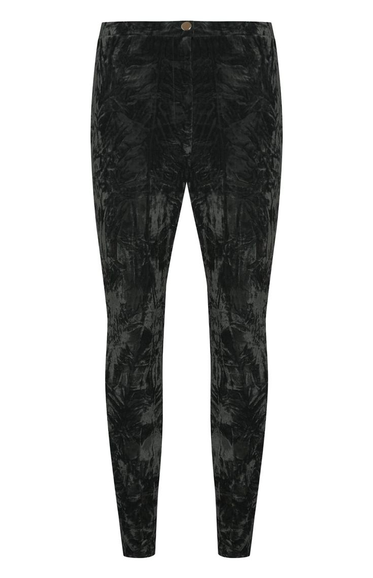 Zwart fluwelen legging met hoge taille