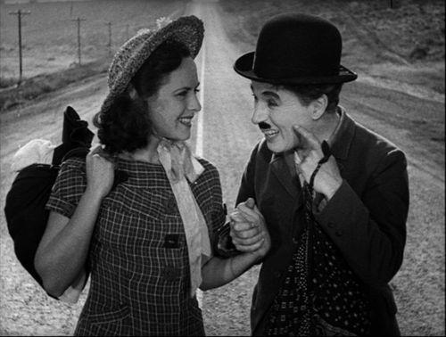 """Paulette Godard y Charles Chaplin en """"Modern Times"""" (1936)"""