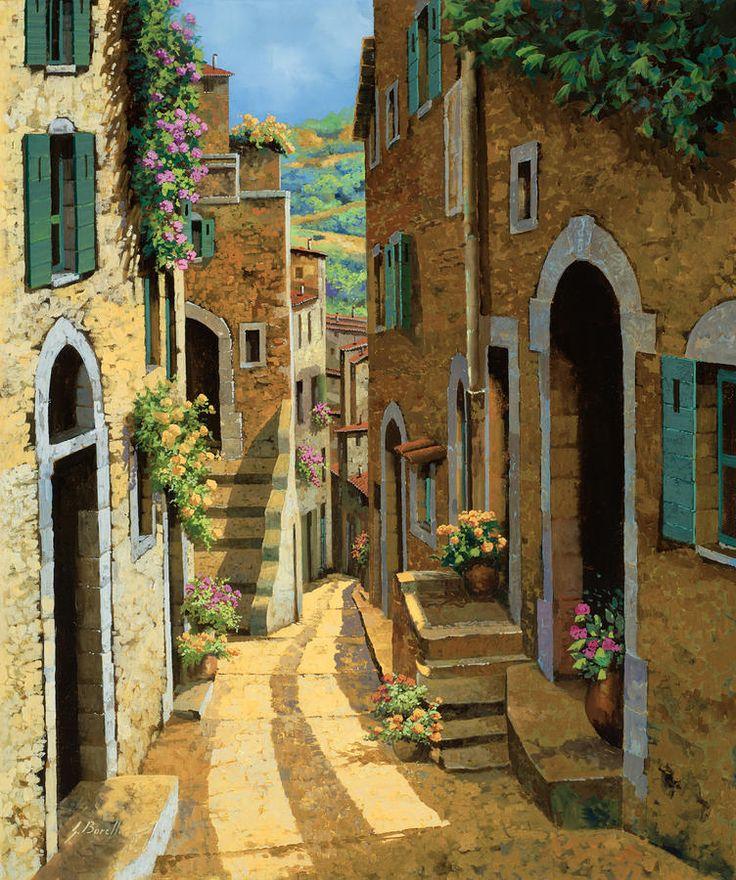 Un Passaggio Tra Le Case by Guido Borelli - Un Passaggio Tra Le Case Painting - Un Passaggio Tra Le Case Fine Art Prints and Posters for Sale