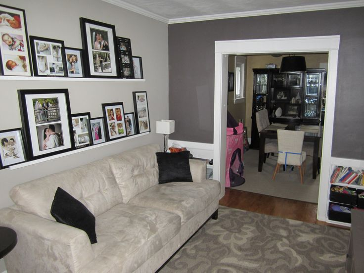 72 best images about house reno on pinterest grey walls - Feature wall living room ...