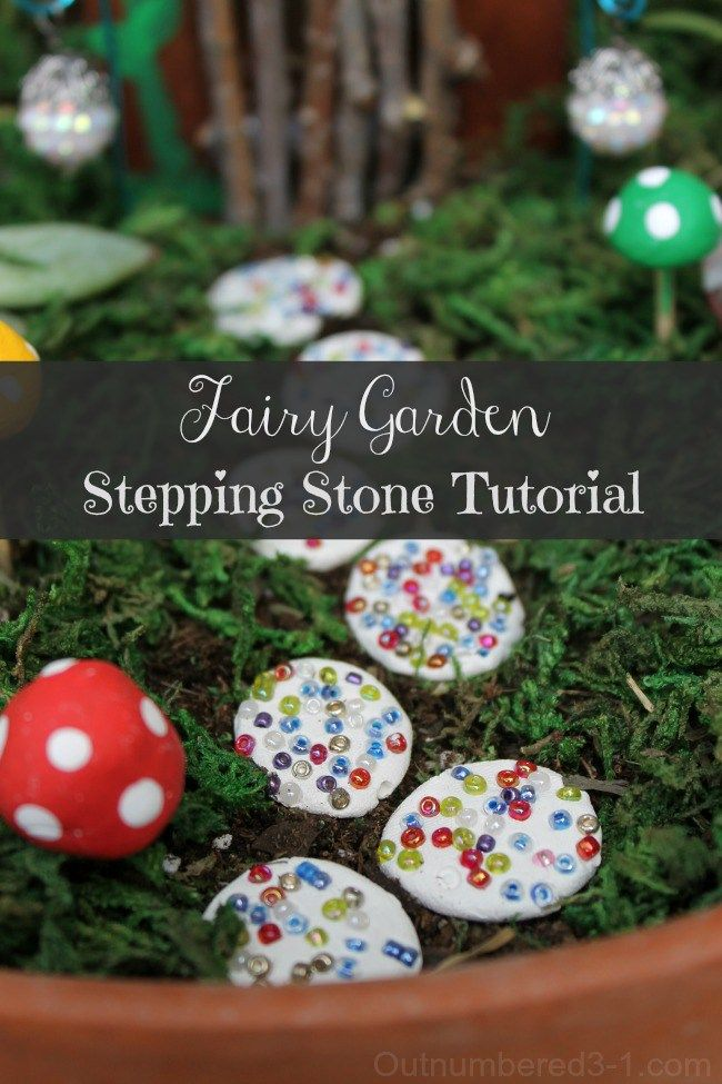 Diy fairy garden stepping stones tutorial today 39 s craft for Craft ideas for fairy gardens