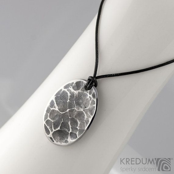 HAMMERED Steel Medallion stainless steel male necklace