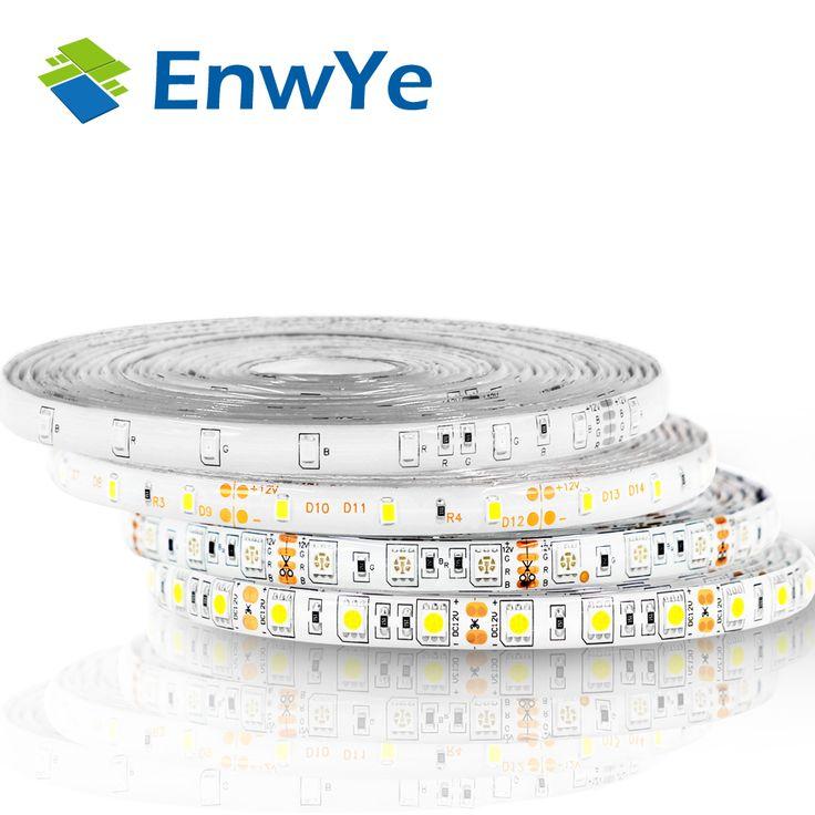 熱い販売5メートル300 leds防水rgb ledストリップライト3528 5050 dc12v 60 leds/m fiexbleライトledリボンテープホーム装飾ランプ