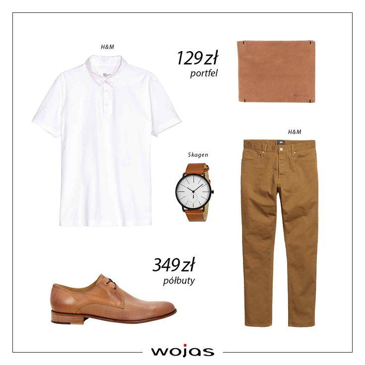 Klasyczne spodnie w kolorze rudości świetnie współgrają z białą koszulką polo. Uzupełnieniem zestawu są modne półbuty Wojas (https://wojas.pl/produkt/23542/polbuty-meskie-6025-53 ) oraz portfel (https://wojas.pl/produkt/23905/portfel-meski-6932-52 ) Polecamy!