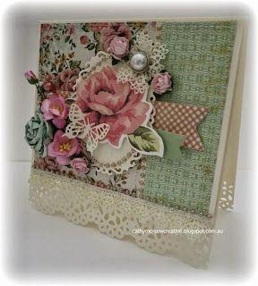 Kaisercraft ~ Tea Break Collection ~ Shabby Card and Box