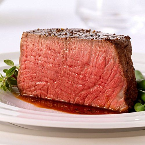 Four USDA Prime Filet Mignon Steaks - Combo Pack of 4 Bee...