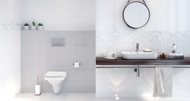 Biała łazienka to wyjątkowa klasyka. Zawsze w modzie. White Magic - 25x75 - Opoczno