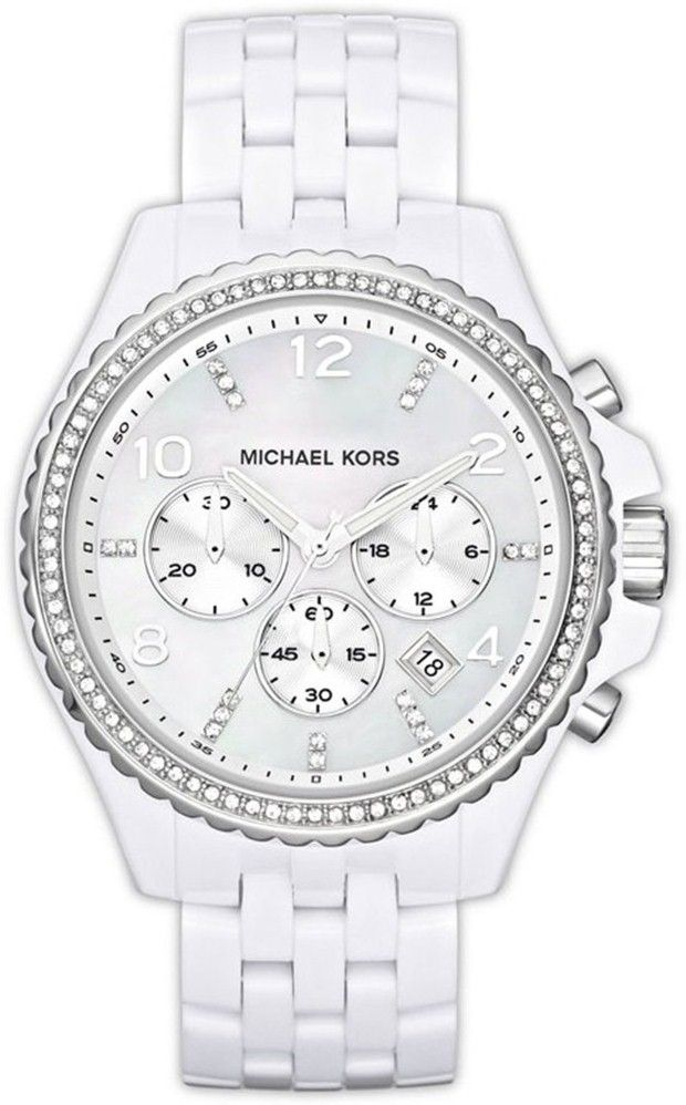 Michael Kors women watches : white watches for women Michael Kors