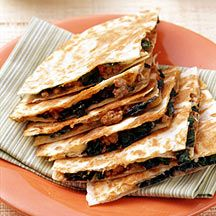 WeightWatchers.com: Weight Watchers Recipe - Beef, Blue Cheese and Spinach Quesadillas