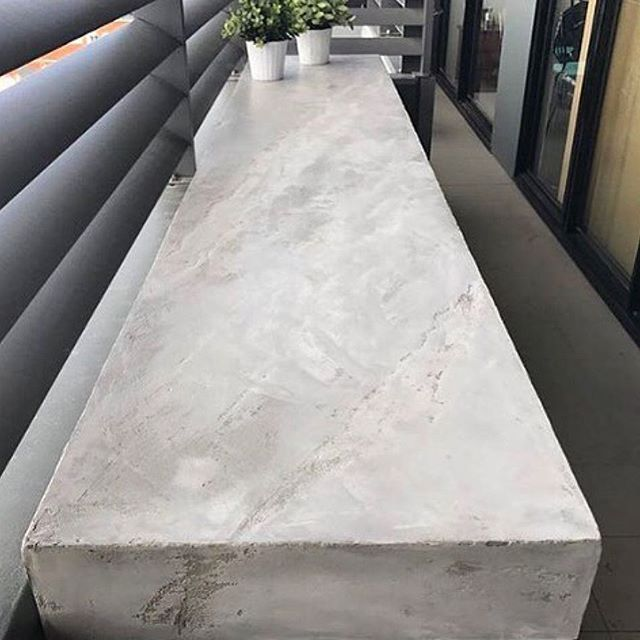 MDF joinery turned into something beautiful coated with Semco Seamless Stone. Turn your ideas into reality with us!  #semco #seamless #stone #xbond #design #ideas #furniture #fugenlos #spachteltechnik #bench #concrete #concreteloo
