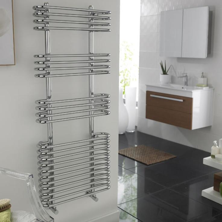 500mm x 1200mm Sway Heated Towel Rail