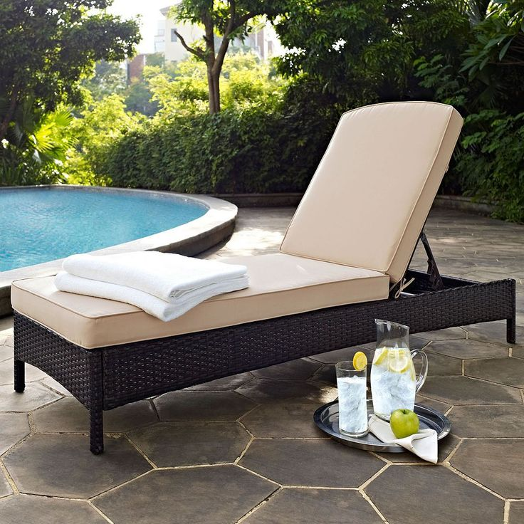 Outdoor Crosley Furniture Palm Harbor Patio Chaise Lounge Chair, Brown