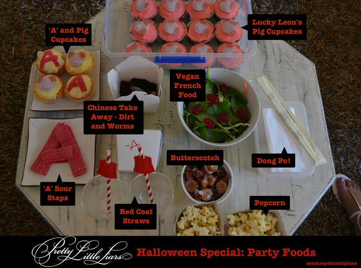 Menu Ideas for Pretty Little Liars Party