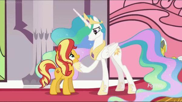 #1660555 - animated, equestria girls, forgiveness, forgotten friendship, hug, it happened, princess celestia, safe, screencap, spoiler:eqg series, sunset shimmer - Derpibooru - My Little Pony: Friendship is Magic Imageboard