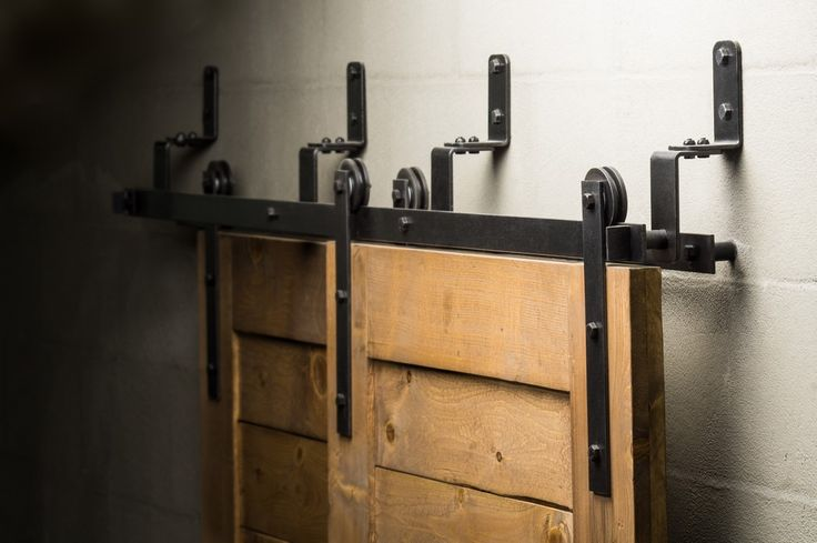 Best 25 bypass barn door hardware ideas on pinterest for Dual track barn door hardware
