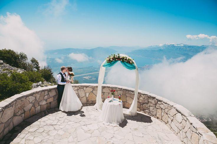 Wedding in Montenegro, Свадьба в Черногории, выездная регистрация на горе Ловчен, высота 1300 метров. Свадьба за границей. Свадьба на море, Свадьба в горах. Lovcen National Park