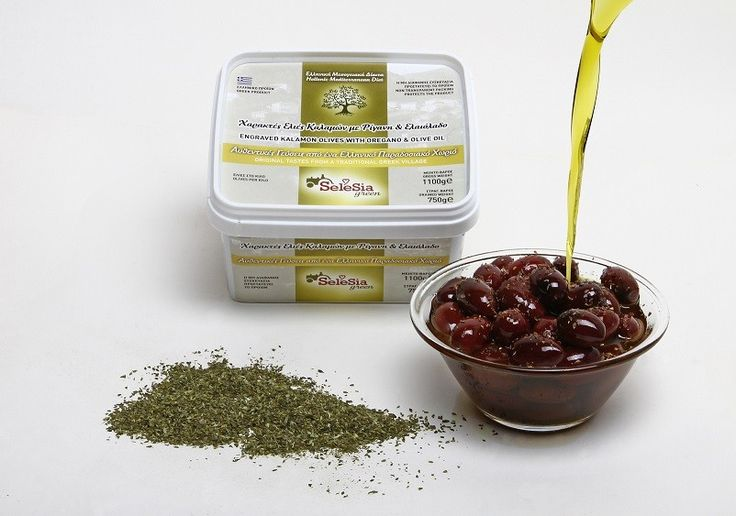 """Olives (engraved) with oregano and Extra Virgin Olive Oil """"SeleSia""""    We suggest you to taste this famous and special rich food, authentic Kalamon olives with oregano and Extra Virgin Oil."""
