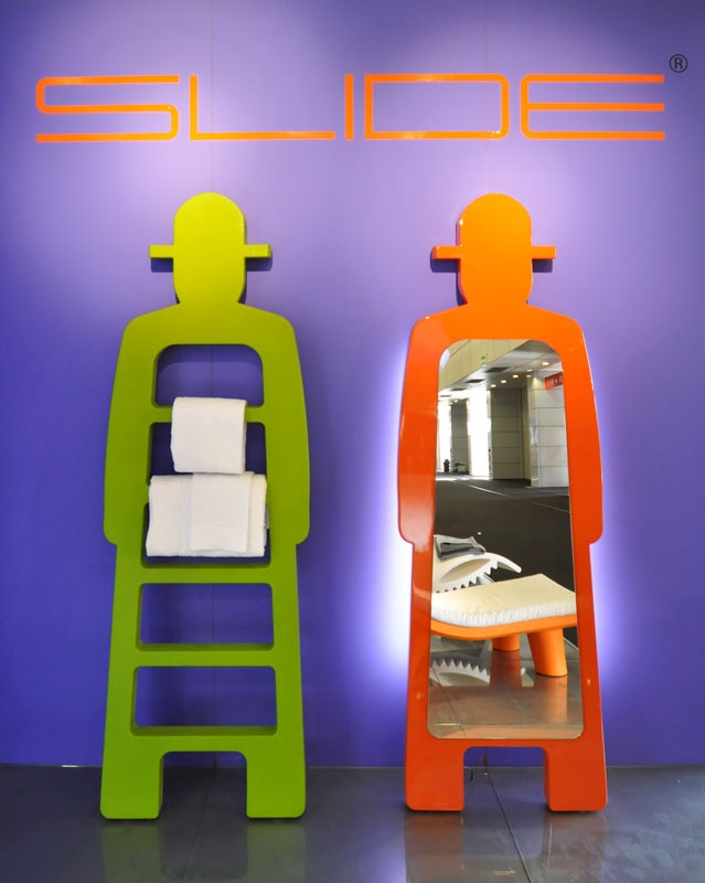 MR. GIO ladder & MR. GIO SPECCHIO mirror, design by Giò Colonna Romano for SLIDE