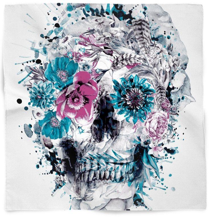 кровля череп из цветов постер полной фигуры