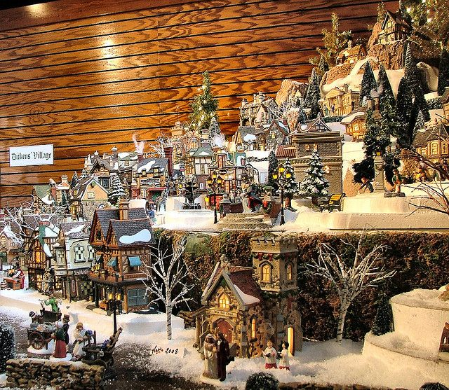 Department 56 - Dickens Village Series Display by Department 56, via Flickr