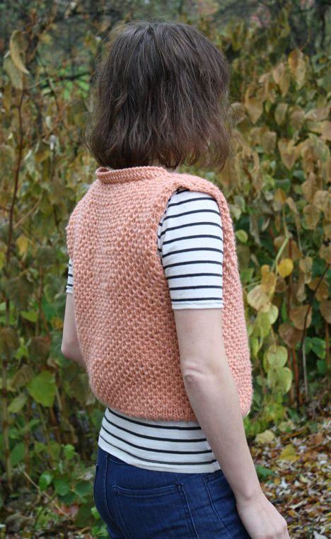 Bee Vest - free knitting pattern - Pickles