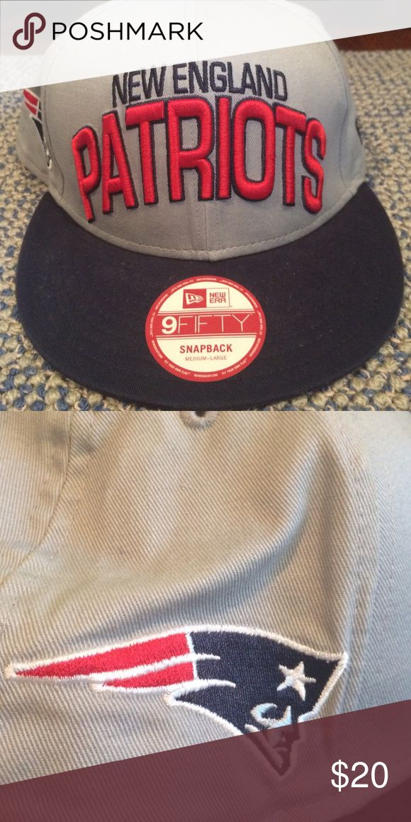 New England Patriots NFL New Era Hat New Era 9 Fifty Snapback (Medium-Large) NFL Officially Licensed. Worn ONCE. New Era Other