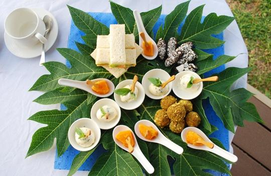High Tea at Eco Beach Retreat Broome