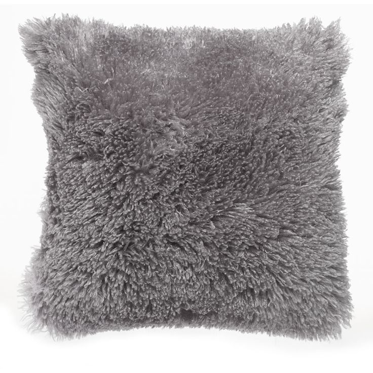 Wilko Cushion Pale Grey 43x43cm. Fluffy pillow for decoration, cosy and comfy pillows