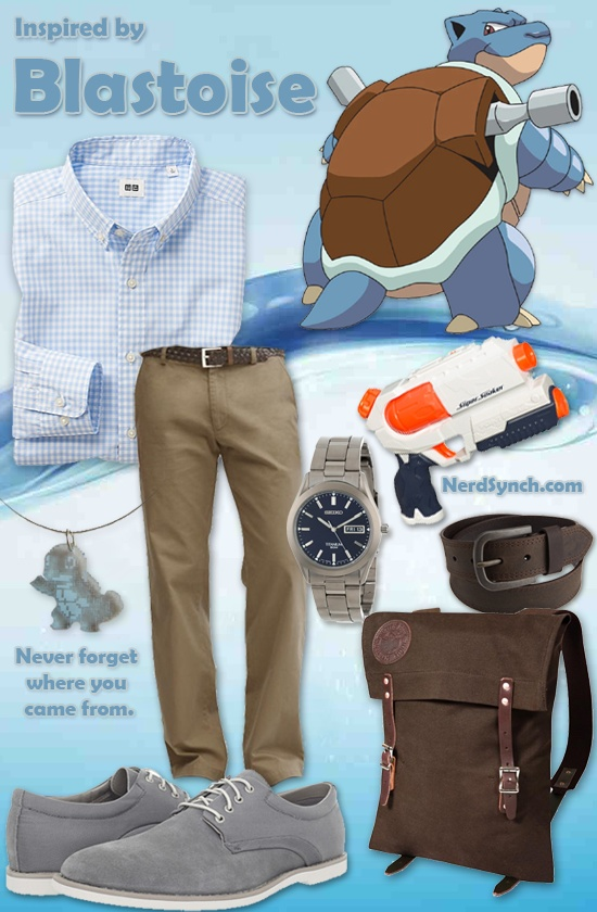 Outfit inspired by Blastoise (Pokemon)