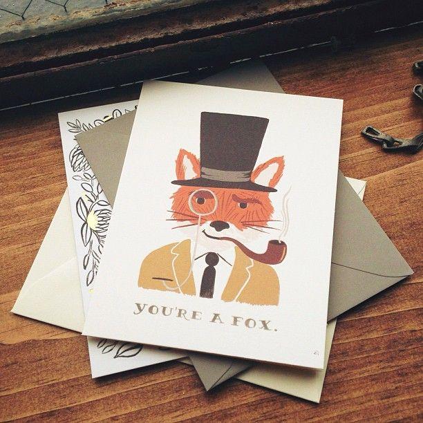 Love this fox card. Rifle Paper Company Photo by kieljp
