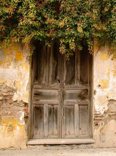 Old wooden door.: Antigua Guatemala, Hidden Doors, Rustic Looks, Rustic Doors, Front Doors, Colors Combinations, Gardens Doors, Old Doors, Old Wooden Doors