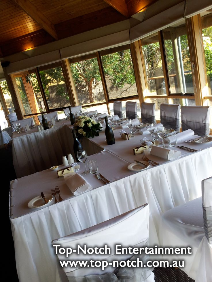 wedding reception venues melbourne cbd%0A Wedding table place setting at Glen Erin  Lancefield  Victoria  www top
