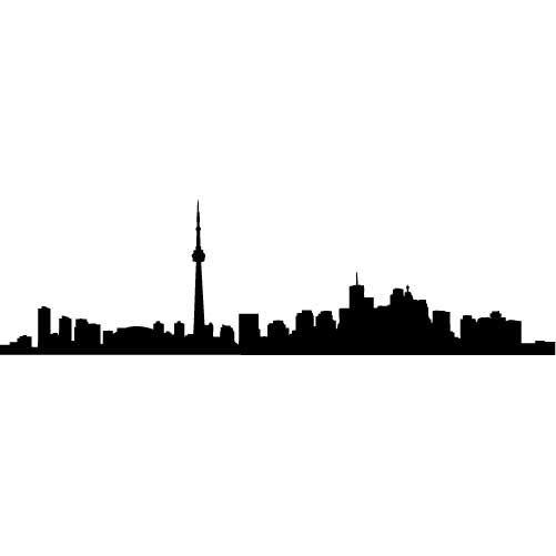 Toronto Skyline Silhouette LARGE Vinyl Wall Decal by wallstickz, $33.95